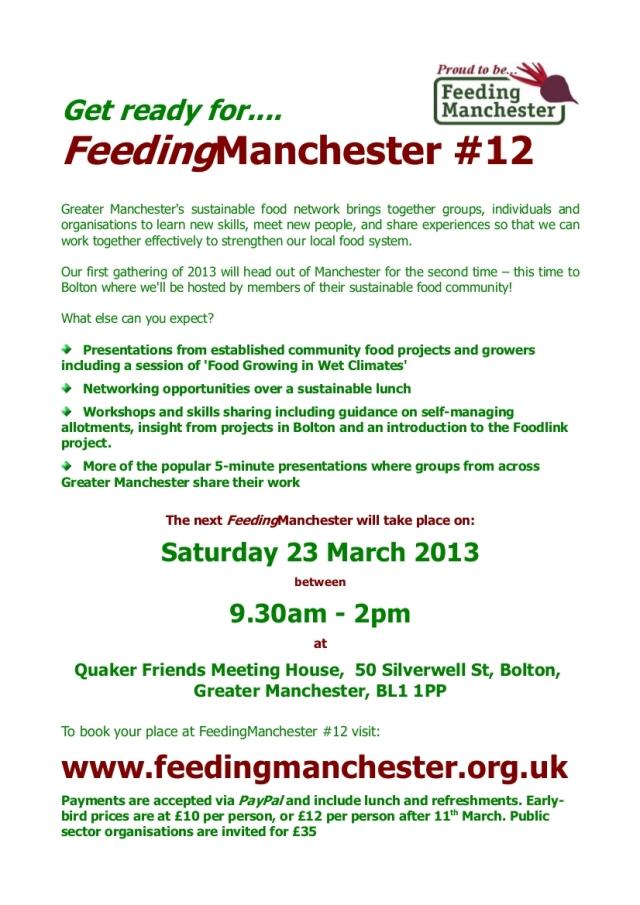 FeedingManchester12 Poster