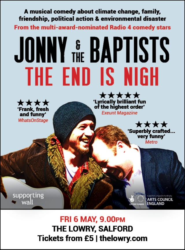 Salford eflyer - Jonny & the Baptists The End Is Nigh