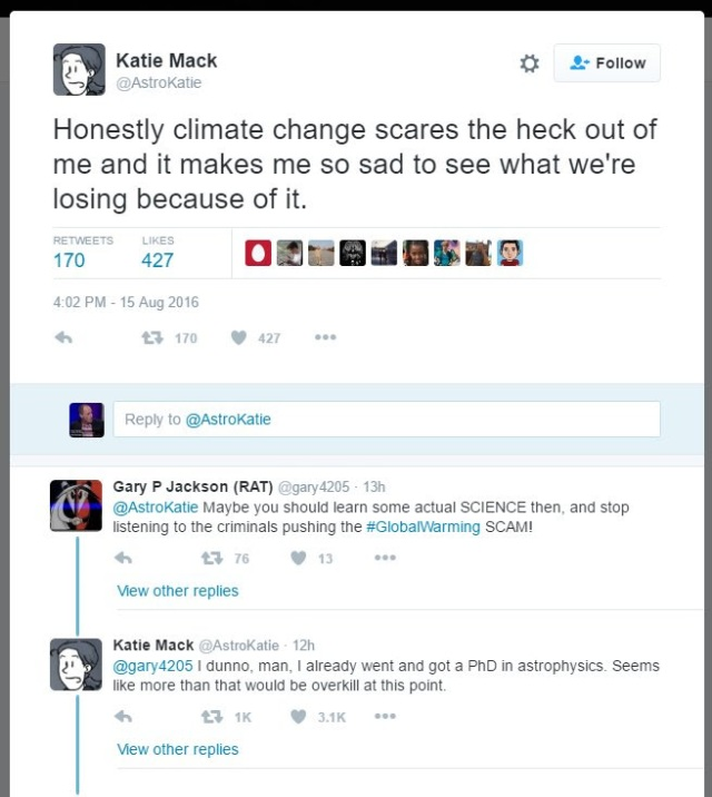 twitter on climate